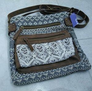 Lace cross body purse